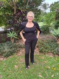 Cathy in garden 2